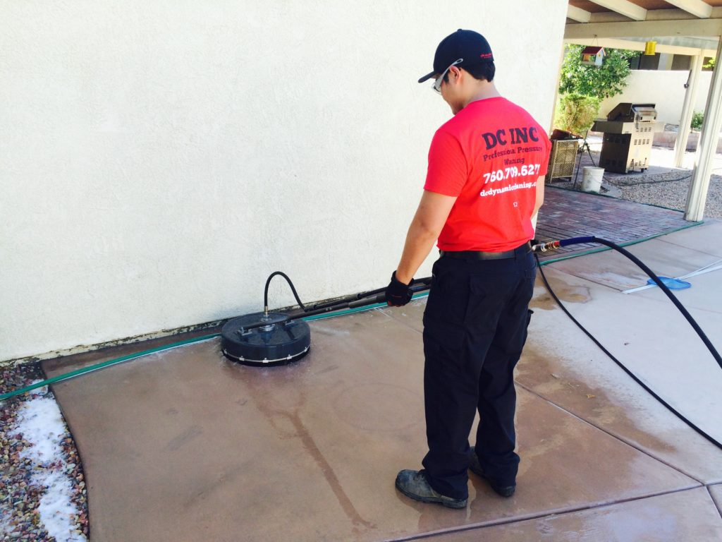 Concrete Cleaning, Staining And Sealing by DC Dynamic Cleaning. Call Today (760) 709-6271